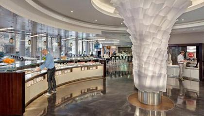 Millenium Pharmaceuticals Cafe restaurant flooring
