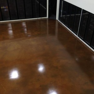 Epoxy Stained Concrete, Lenny's Liquor, Millbury, MA