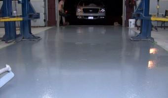 Epoxy, DJ's Automotive Garage Floor, Leominster, MA