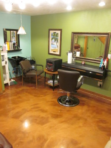 Metallic Epoxy, Hey Good Lookin' Salon, Fitchburg MA