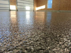 Decorative Flake Epoxy, Garage Floor, Block Island, RI