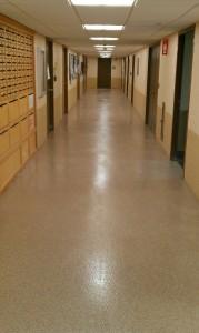 Epoxy Corridors. Springfield Hospital. Springfield, VT