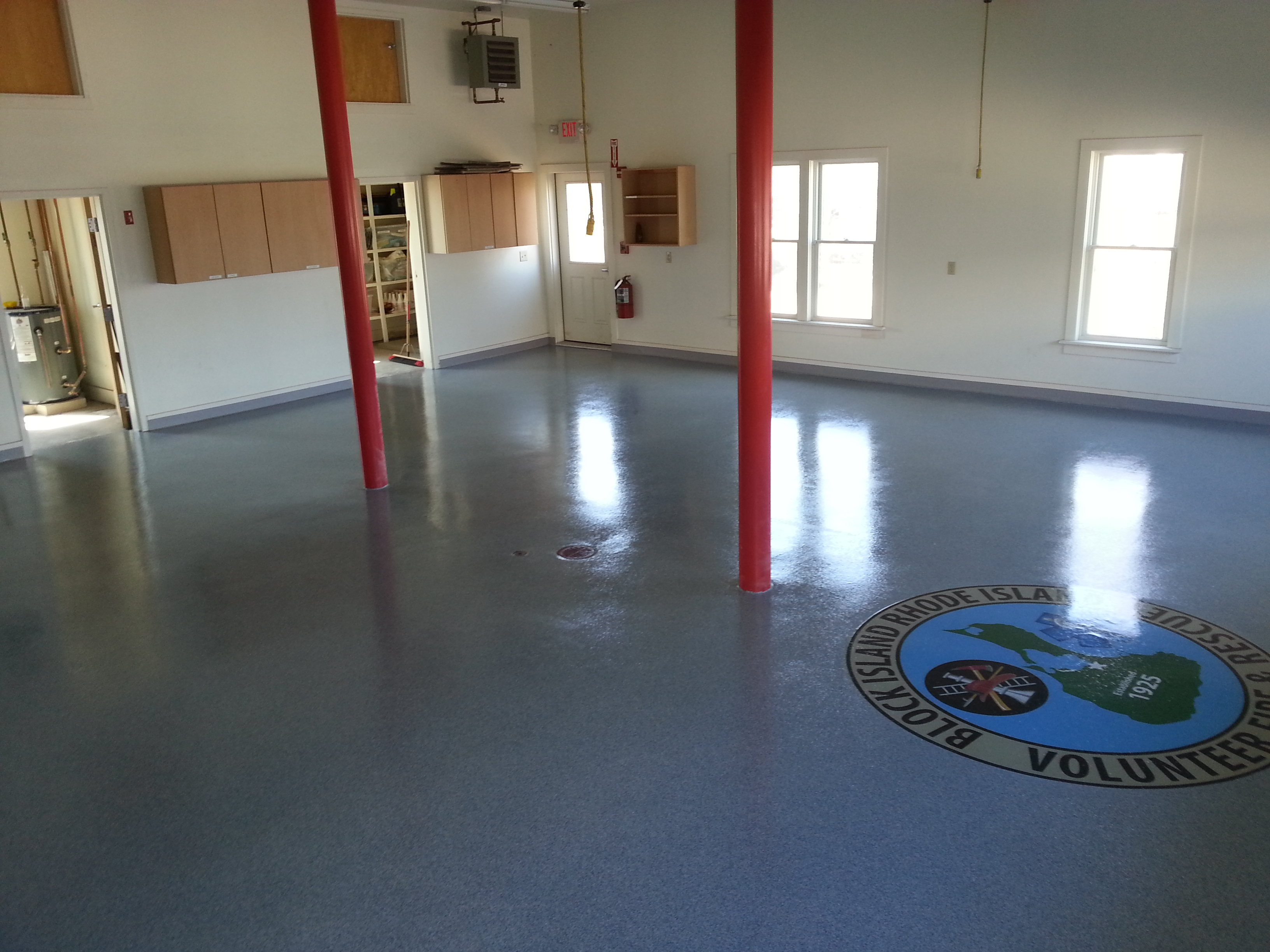 Block Island Fire Department municipal flooring